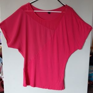 Guess! Red/deep pink mix knit blouse